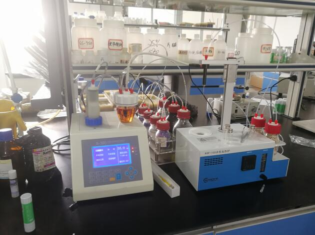 安徽美威特文具购买我公司卡氏加热炉检测固体胶中的水分
